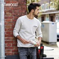 SIMWOOD 2018 אביב חדש סוודרי גברים סוודר סרוג סוודר פתית שלג אופנה מזדמן זכר באיכות גבוהה בתוספת גודל MT017018