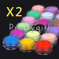 Comercio al por mayor 36 unids de color Polvo de Acrílico para el Arte Del Clavo Consejos Glitter UV Kit Polaco Decora Set