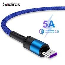 Сверхбыстрый USB C кабель 5A для Huawei P30 P20 Lite Xiaomi Mi 9, зарядный кабель 3,0 USB Type C для Samsung S8 S10 S9