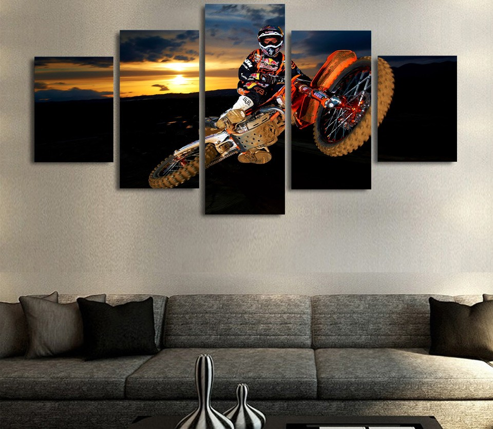 Dirt Cheap Home Decor: HD Print 5 Pcs Hoverbike Canvas Wall Art Print Painting