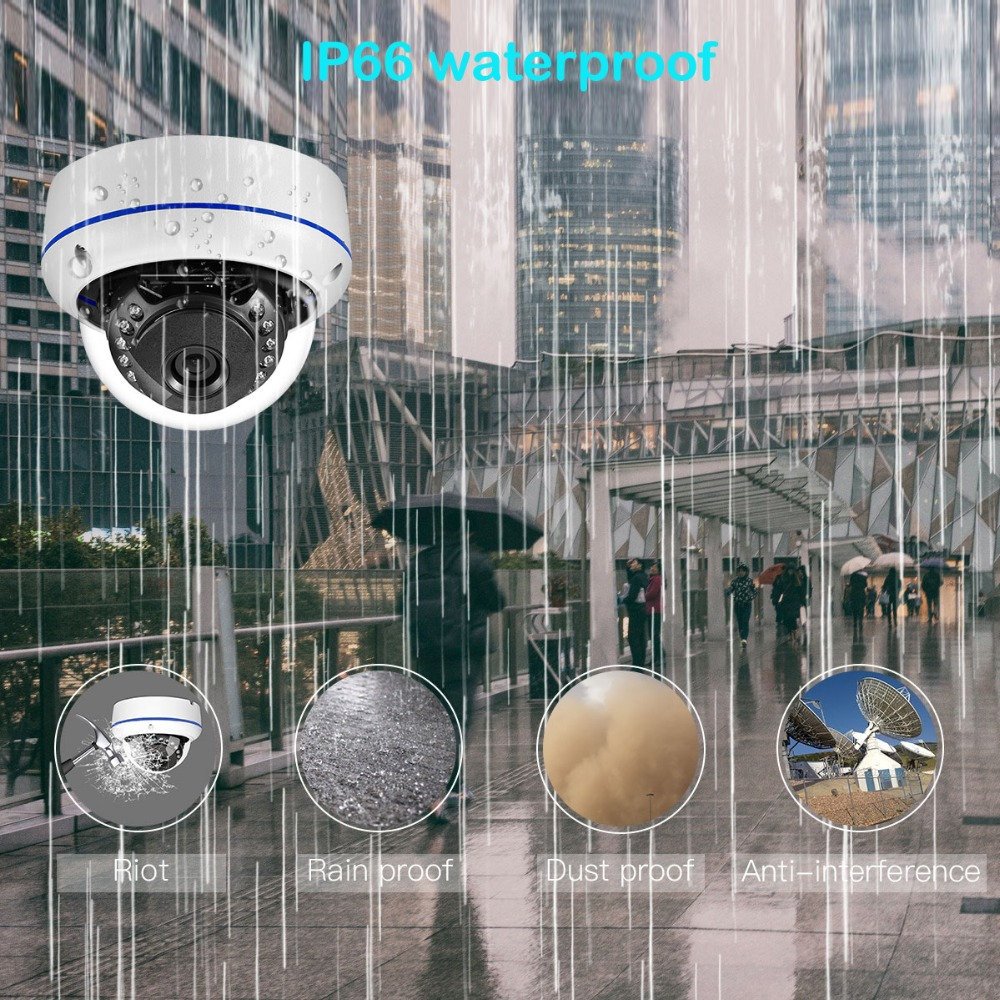 "Image 4 - AZISHN Vandalproof H.265 HD 5MP 1/2.8""SONY IMX335 IP Camera 2592*1944 ONVIF PTP 15IR Dome metal waterproof Security CCTV Camera-in Surveillance Cameras from Security & Protection"