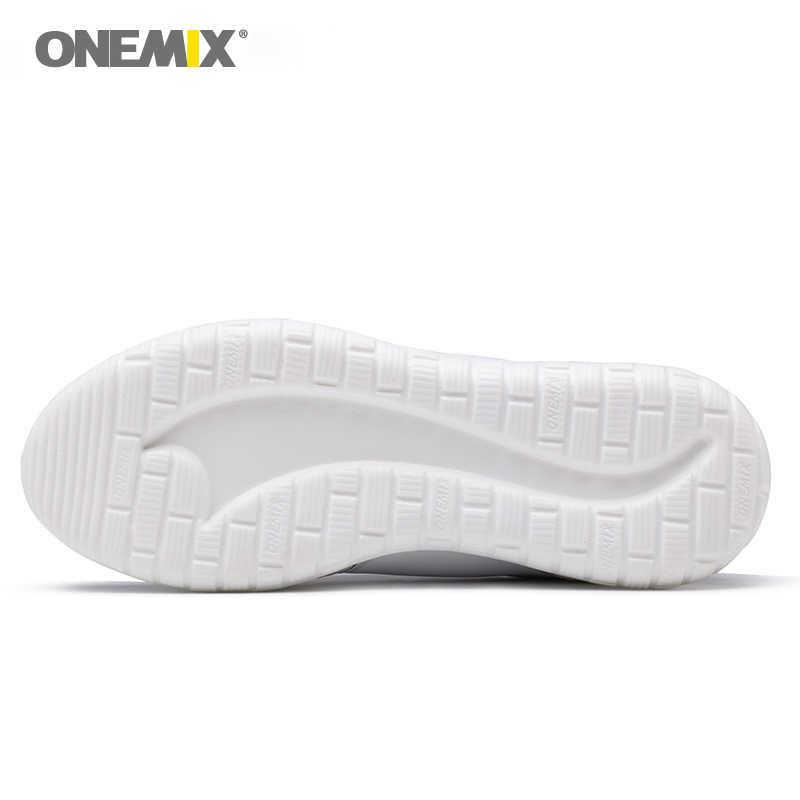 Onemix รองเท้าวิ่งสำหรับชาย Lace Up รองเท้ากีฬารองเท้า Breathable ตาข่ายผู้หญิงน้ำหนักเบากลางแจ้งรองเท้าผู้ชายกีฬารองเท้าผ้าใบ