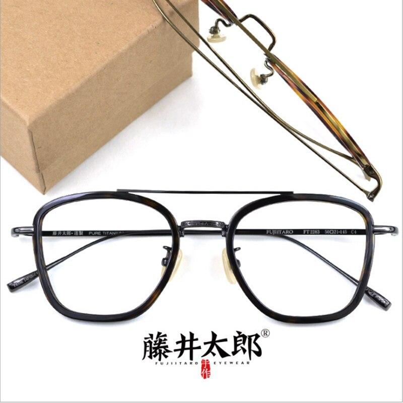 Brillenrahmen Bekleidung Zubehör SchöN Taro Fujii Spektakel Rahmen Brillen Männer Frauen Computer Optische Gläser Für Männer Klare Linse Titan & Acetat Rahmen Weibliche Mit Traditionellen Methoden