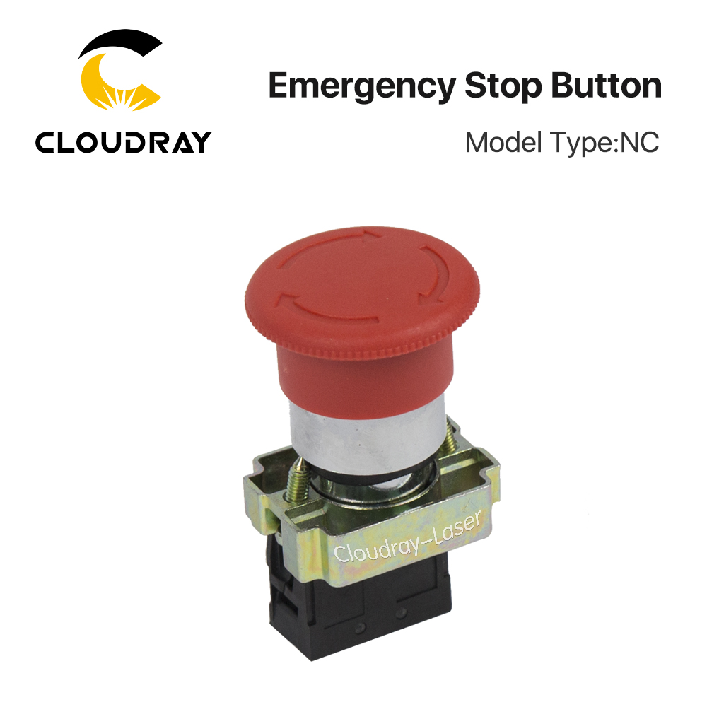 Cloudray Emergency Stop Button NC for CO2 Laser Engraving Cutting Machine компрессор для шин cc 2015 cb76