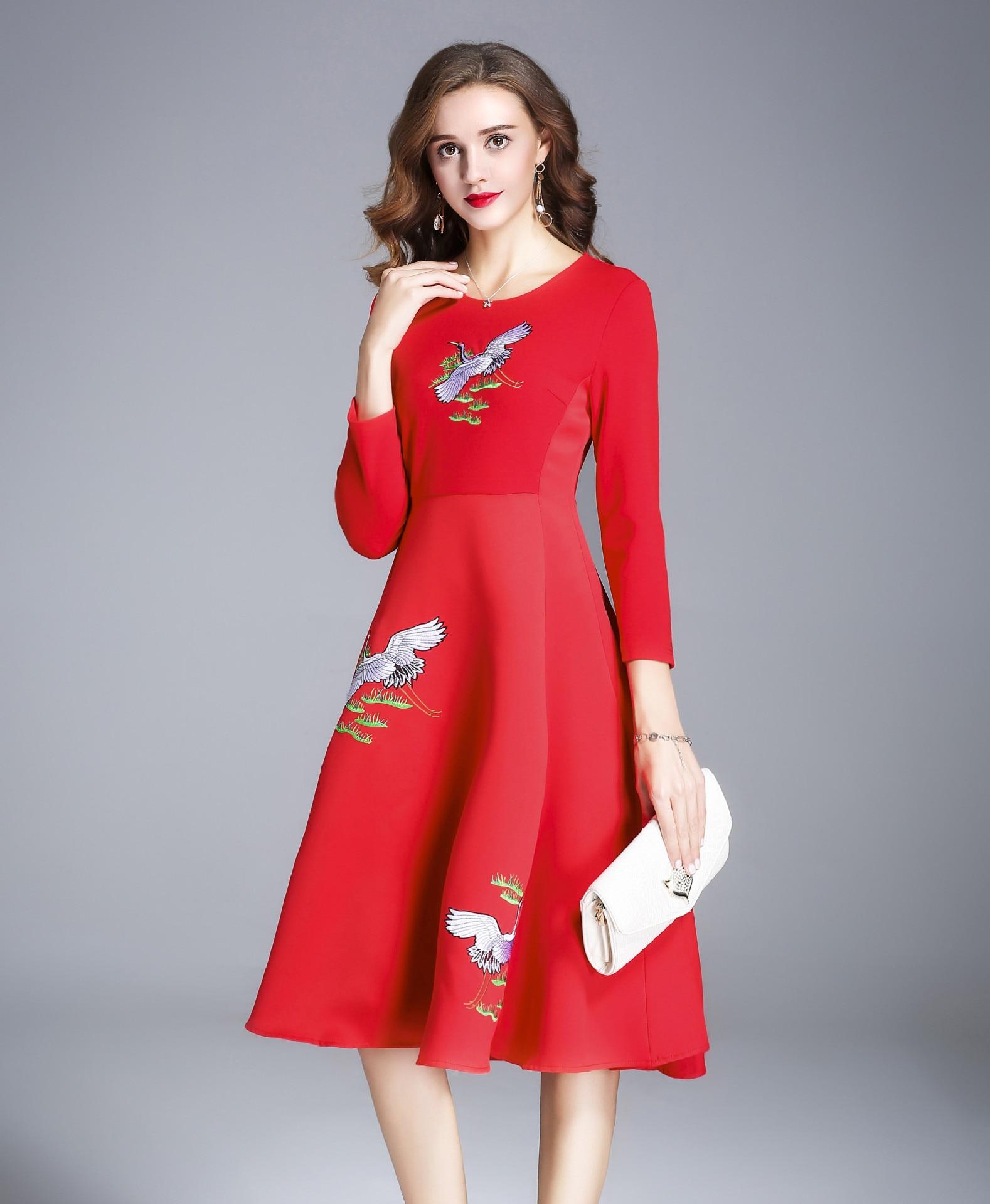 47ec99c42417 Rosso Vestito Di Signora Vestido Donna Della 2019 Borgogna Dell ufficio  Breve Vestiti Elegante Donne Inverno ...