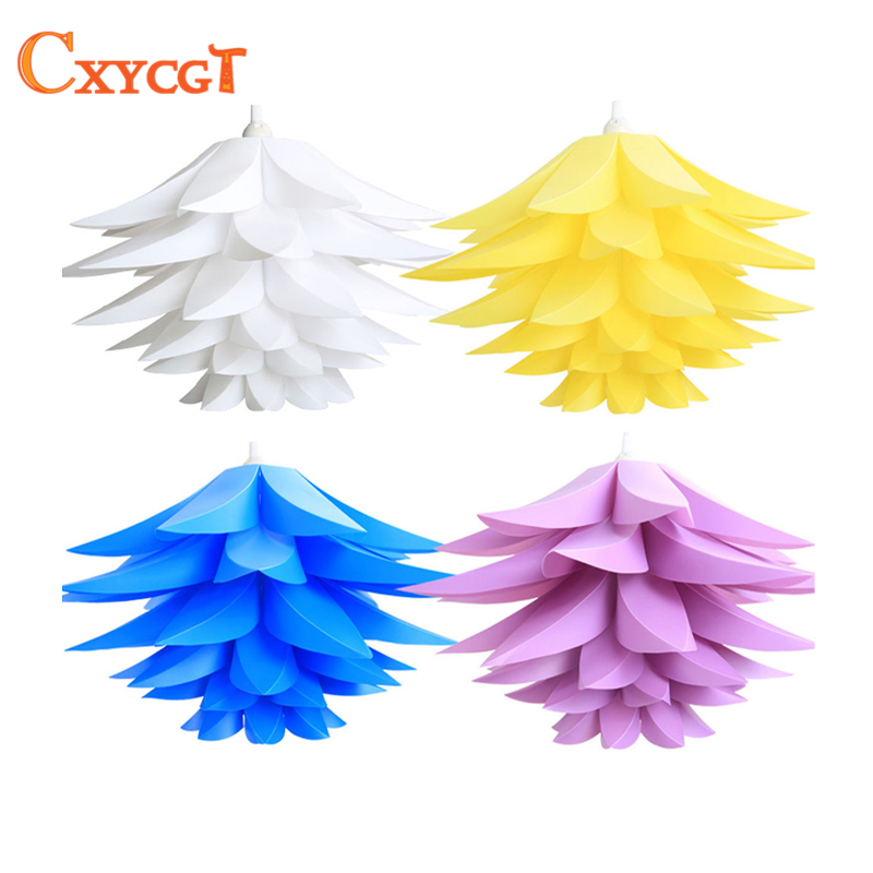 Creative DIY Lotus Chandelier PP Pendant Droplight Shade Ceiling Room Decoration Puzzle Lights Modern Lamp For Home Decoration diy lily lotus iq puzzle chandelier ac110 240v cafe restaurant ceiling decoration led chandelier e27 white
