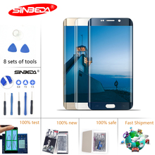 2 Pcs/Lot Sinbeda Super Amoled For SAMSUNG GALAXY S6 Edge LCD G925 G925F SM-G925F Display Touch Screen Digitizer For S6 LCD стоимость