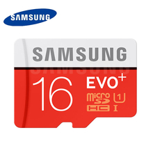 SAMSUNG MicroSD Memory Card 16G SDHC EVO+ Class 10 Micro SD C10 UHS TF Trans Flash Free Shipping Original 16GB TF card