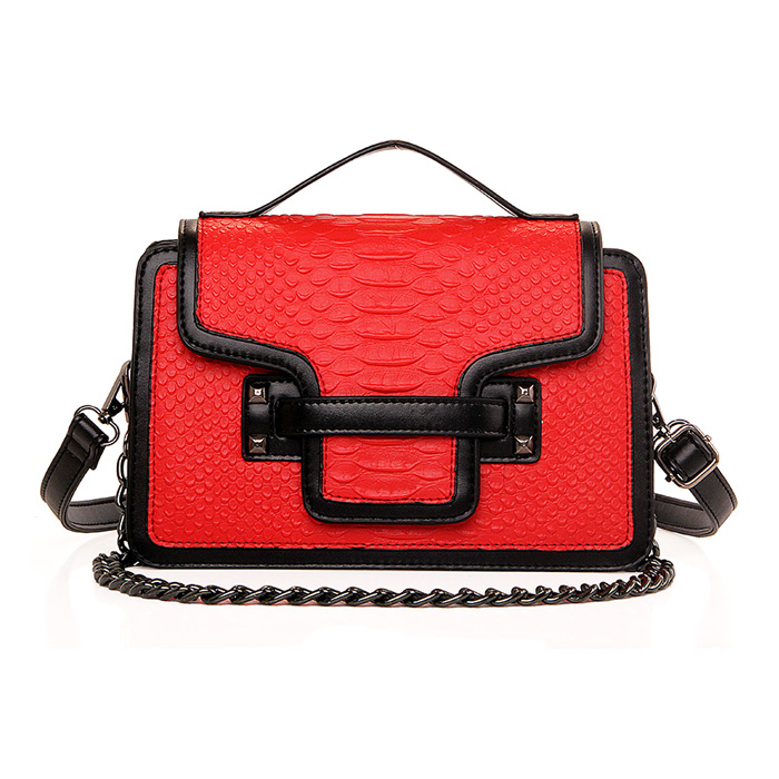 ФОТО 2016 Luxury Quality Serpentine PU Handbags Ladies Tote Shoulder Chain Bag Famous Designer Women Messenger Bags
