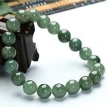 Сертифицированный зеленый натуральный нефрит жадеит браслет