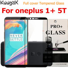 цена на Screen protective all cover Tempered Glass For oneplus 5T 1+5T 9H 6 inch on smartphone toughened display cases 5t  5 T black