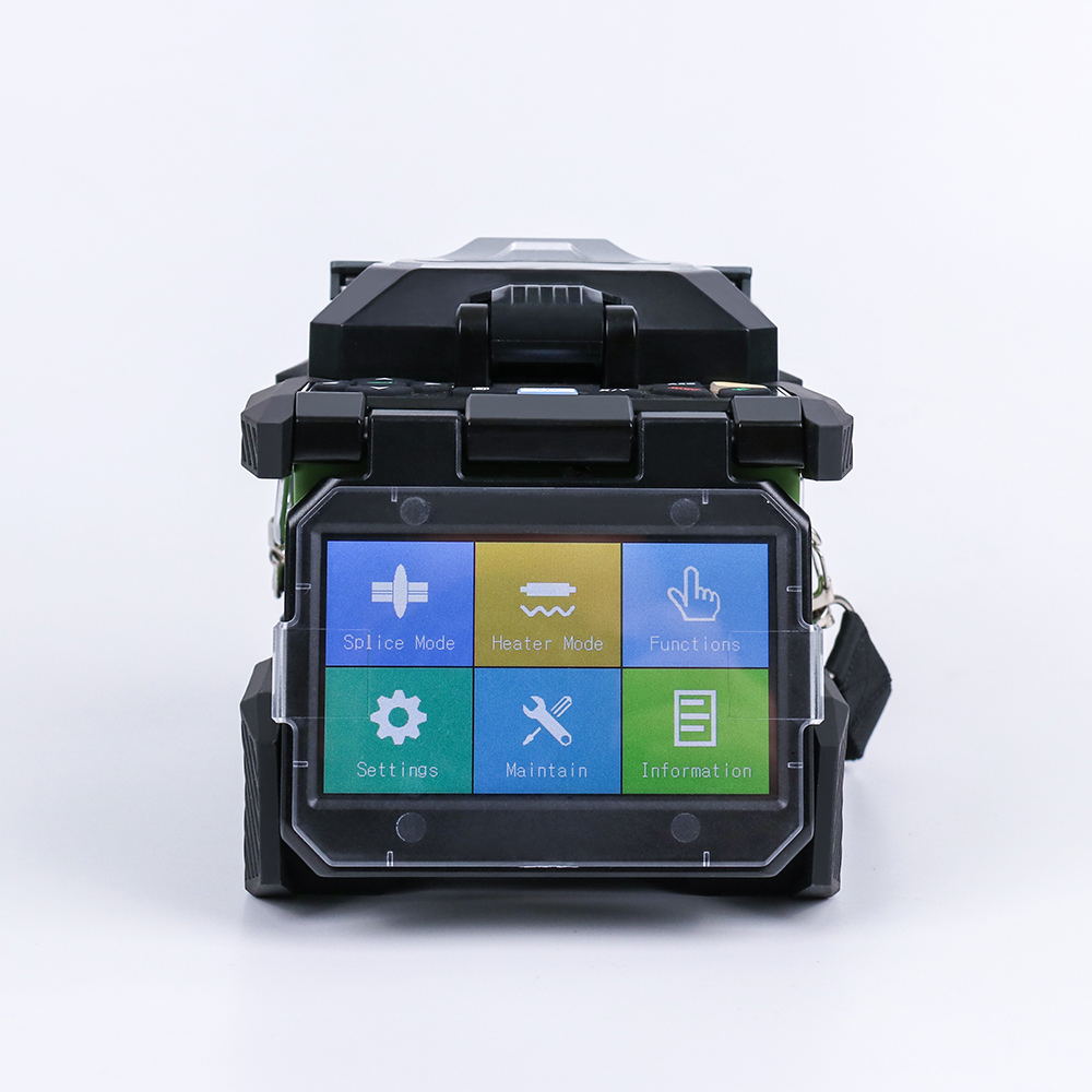 KOMSHINE FX37 Fiber Optic Splicing Machine Fusion Splicer Fusionadora de Fibra Optica Patch Cord with Optic Fiber Cleaver in Fiber Optic Equipments from Cellphones Telecommunications