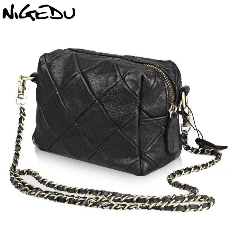 Овчины лоскутное мини сумка из натуральной кожи цепь сумка для Для женщин Crossbody сумки bolsas маленькие сумка женская