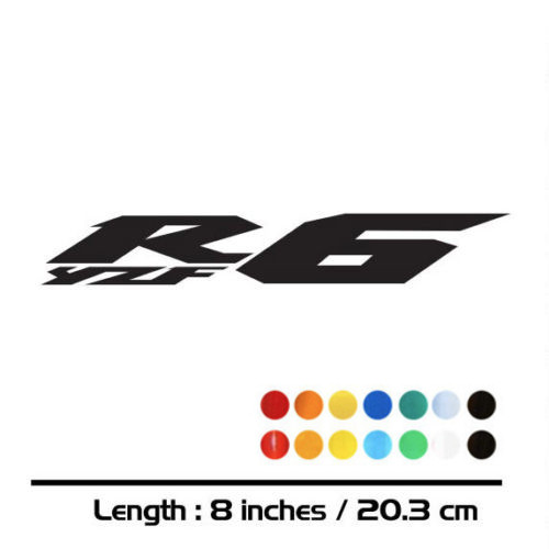 2 X motorcycle <font><b>sticker</b></font> bike fuel tank <font><b>wheel</b></font> helmet luggage car reflective decal for <font><b>yamaha</b></font> YZF-6R YZFR6 YZF <font><b>R6</b></font> image