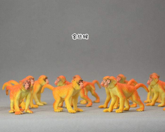 FREE SHIPPING Small solid animal model toy monkey eco-friendly andmeticulous 4-7CM