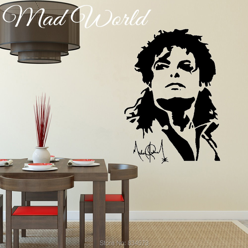 Mad world celebrity silhouette music dance wall art stickers wall mad world celebrity silhouette music dance wall art stickers wall decal home diy decoration removable room decor wall stickers in wall stickers from home amipublicfo Image collections