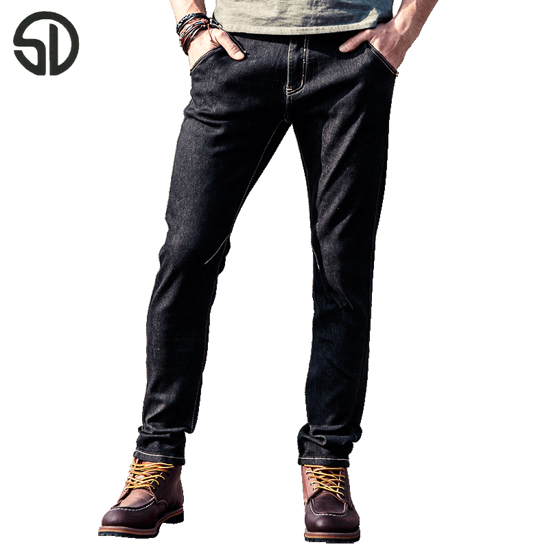 Mens Biker Jeans Zippers Fashion Cool Style Men's Jean Skinny Homme All-match Long Elastic Breathable Casual Denim Pants