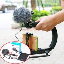 Ulanzi BY-MM1 BOYA Micrófono de Cañón con Deadcat Windeshield Vídeo Entrevista Micrófono para Nikon Canon DSLR para iPhone 6 Andriod