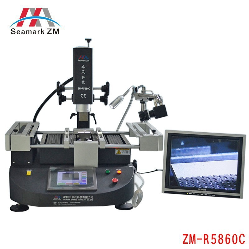 ZhuoMao ZM-R5860C Infrared & Hot air BGA Rework Station soldering station with CCD camera and monitor, free tax to RUSSIA shuttle star sp380iitouch screen hot air bga rework station sp 380ii free tax to russia