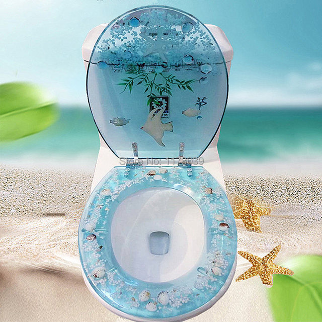 Turquoise Toilet Seat Cover. European style resin toilet seats cover Mute Multi color universal Thicker  type seat