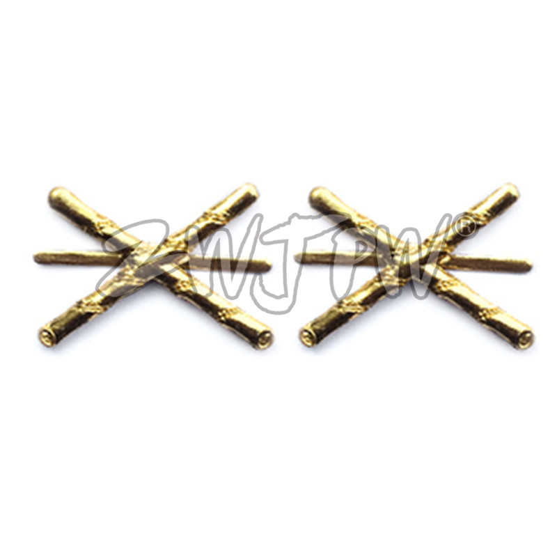 KMT Takebana Badge Bamboo Flower WWII WW2 Chinese Army Collar Insignia Metal CN/40228
