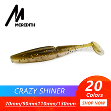 Meredith Loopy Shiner Fishing Lure 70mm 90mm 110mm 130mm Delicate Baits Fishing Wobbler Bass Bait Synthetic Fishing delicate Lure Tacke