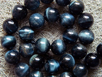 Free Shipping Natural Color Smooth Round 14mm Hawk S Eye Beads Stone Wholesale For Jewelry DIY