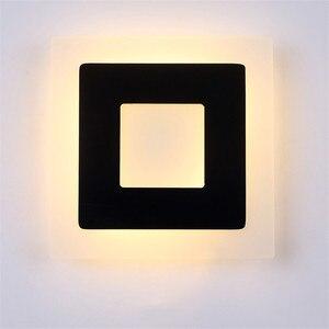Image 2 - 18 واط Led الاكريليك الجدار مصابيح AC85 265V الحديثة بسيطة نوم أضواء داخلي غرفة الطعام الممر الإضاءة الألومنيوم الجدار الشمعدان NR13