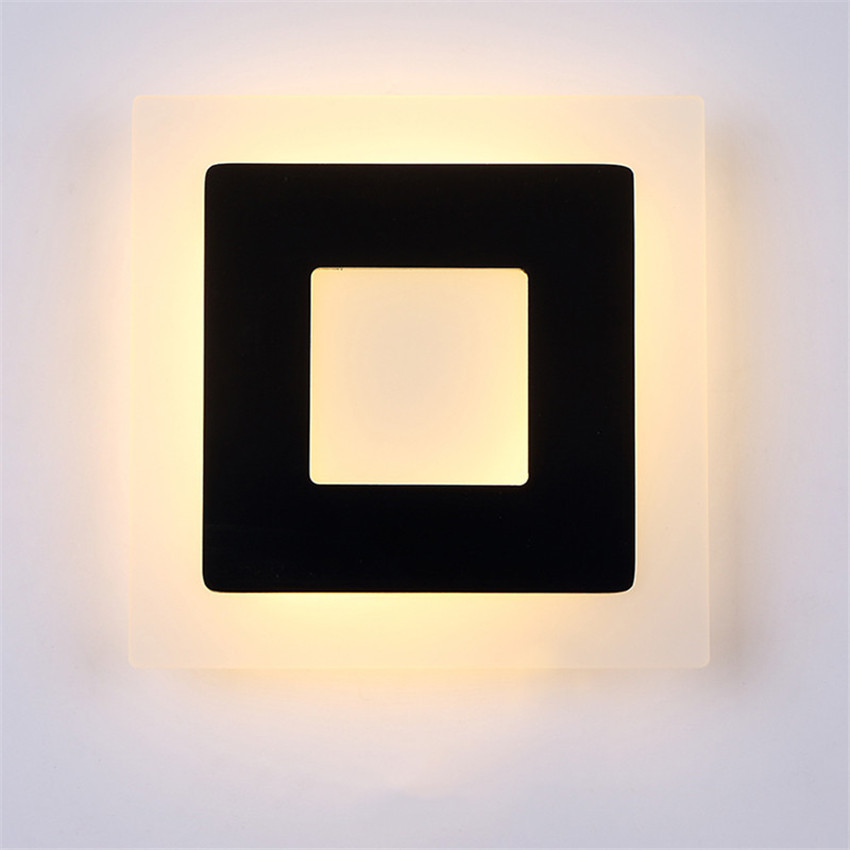 Image 2 - 18w Led Acrylic Wall Lamps AC85 265V Modern Simple Bedroom Lights Indoor Dining room Corridor Lighting Aluminum Wall Sconce NR13-in LED Indoor Wall Lamps from Lights & Lighting