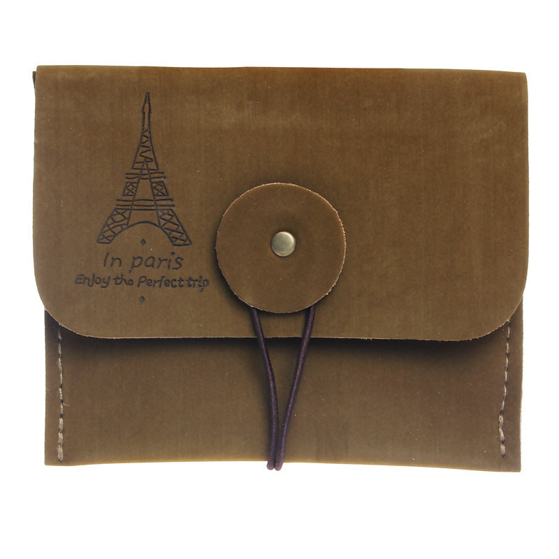 Woman Vintage Coin Purse Style Retro Paris Tower Zipper Purse Holder wallets Mini bag Cheap Purses Protable Ladies Small Bags vintage paris coin purses packet nostalgia canvas coin bag