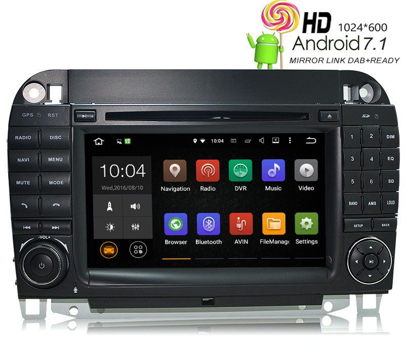 HIRIOT W220 W215 Car DVD <font><b>GPS</b></font> Android 7.1 Player Auto Radio <font><b>For</b></font> <font><b>Mercedes</b></font> Benz S-Class 1024*600 BT Wifi/4G DAB OBD TPMS Mirrorlink image
