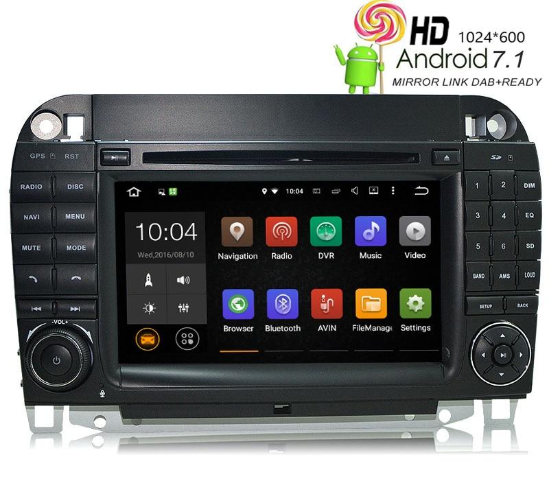 HIRIOT W220 W215 voiture DVD GPS Android 7.1 lecteur Auto Radio pour Mercedes Benz classe S 1024*600 BT Wifi/4G DAB OBD TPMS Mirrorlink