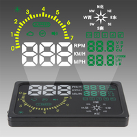 Newest Universal 6 Car HUD Head Up Display alarm system With OBD2 speedometer Overspeed Warning Compass HUD display