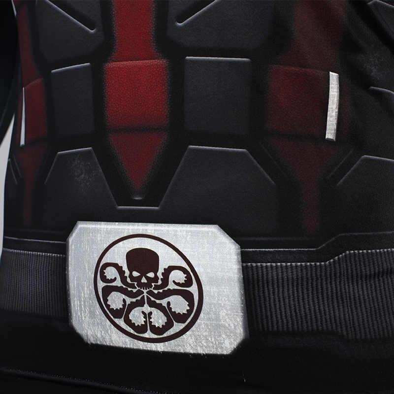 Hydra Капитан Америка 3D печатных футболки для мужчин Мстители 4 эндигра компрессионная рубашка костюм косплей топы с длинными рукавами для мужчин