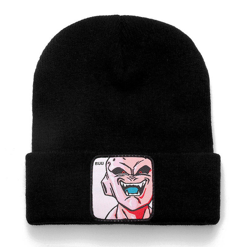 Dragon Ball Z MAJIN BUU Beanie High Quality Cotton Casual Beanies For Men Women Warm Knitted Winter Hat Fashion Solid Unisex Cap