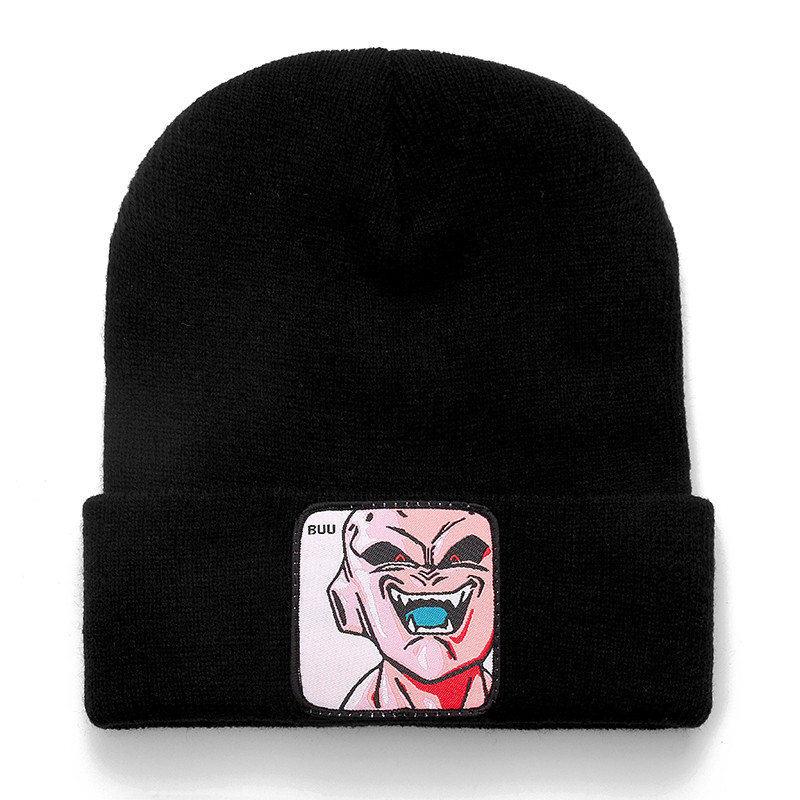 Dragon Ball Z MAJIN BUU Beanie High Quality Cotton Casual Beanies For Men Women Warm Knitted Winter Hat Fashion Solid Unisex Cap