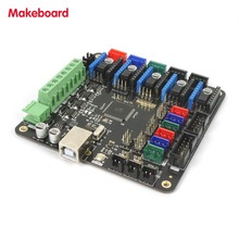 Micromake 3D Printer Parts Makeboard Pro 3D Printer Main Board Support Heatbed Compatible with Ramps 1.4