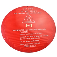 3D Printer Platform Accessories Mk3 Aluminum Substrate 220Mm Red Oil Round Hot Bed 12V Bare Board For Kossel 3D Printer