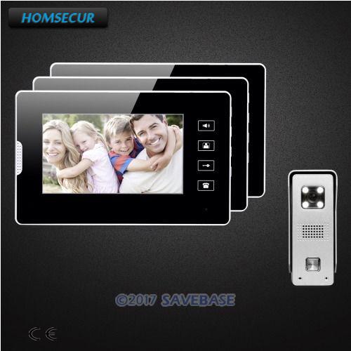 HOMSECUR 7inch Wired Video Security Door Phone with IR Night Vision for Home Security