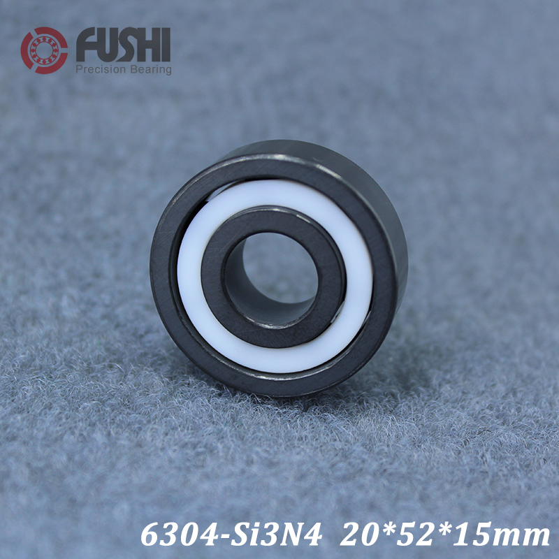 6304 Full Ceramic Bearing ( 1 PC ) 20*52*15 mm Si3N4 Material 6304CE All Silicon Nitride Ceramic Ball Bearings эспандер грудной housefit dd 6304