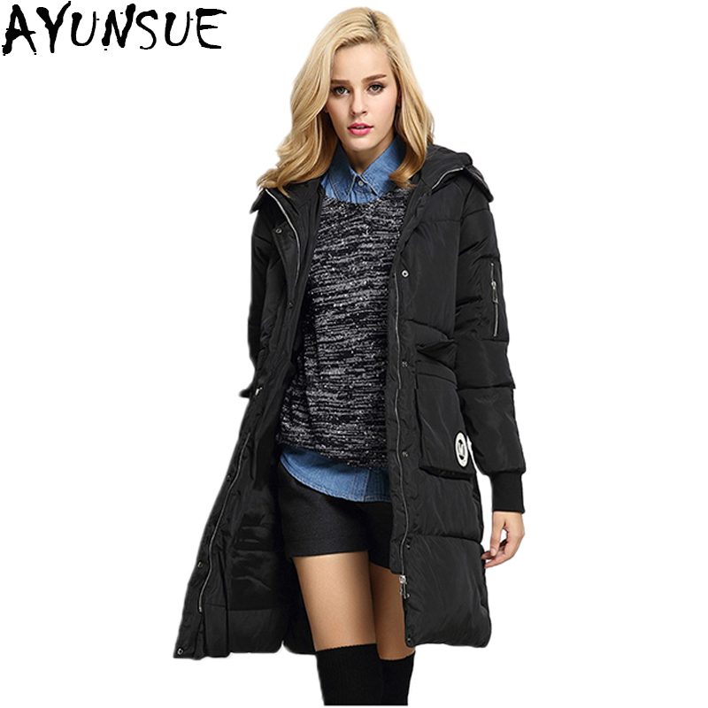 Popular Black Padded Hooded Coat Ladies-Buy Cheap Black Padded ...