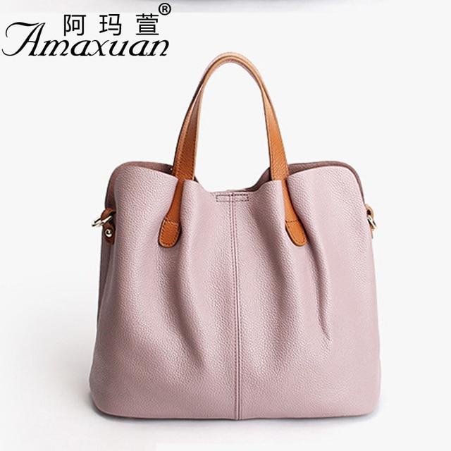 2017 Women Genuine leather handbags fashion Vintage women messenger shoulder bags solid color women crossbody bags 2017 BBH1364