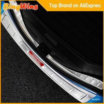 Car Accessories For Toyota RAV4 2016 2017 2018 Rear Trunk Bumper Guard Plate Door Sill Trim #304 Stainless Steel Car Styling image