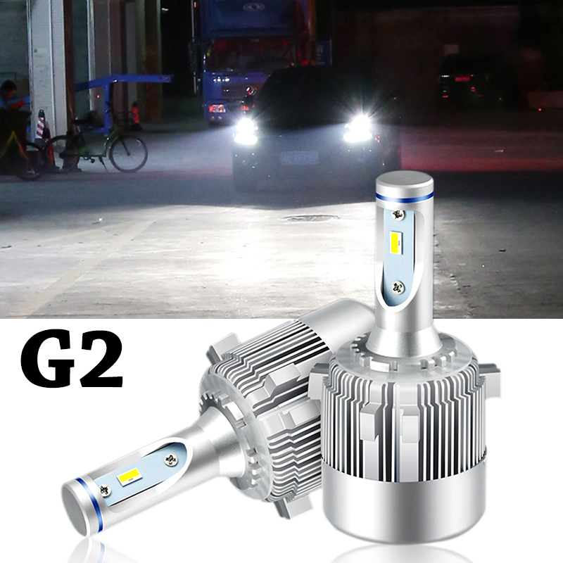 Super Bright Car Headlights LED G2 Canbus Auto Front Bulb Automobile Waterproof  Headlamp 6000K Car Lighting for Golf 6 7