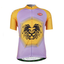 TVSSS Men's Summer Mesh Fabric Yellow and Purple Bicycle Shirt Sporting Clothes Mountain Bike Jerseys