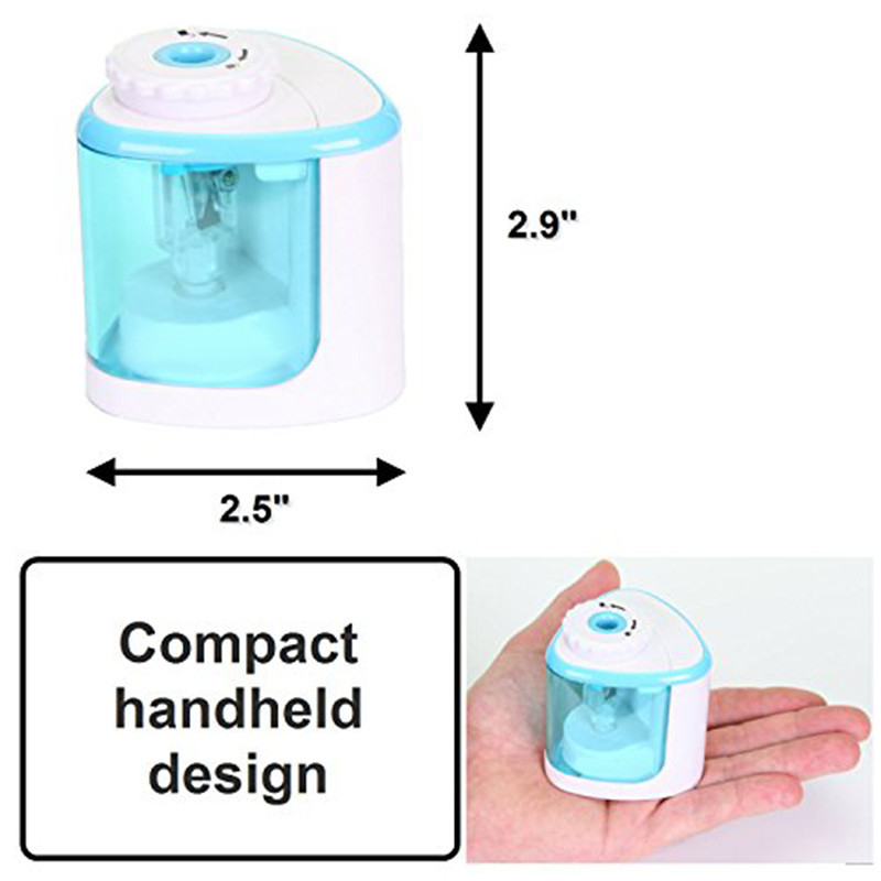 TENWIN Electric Pencil Sharpener Kids Stationary School Office Home Pink Blue Automatic Pencil Sharpener 40TN8005
