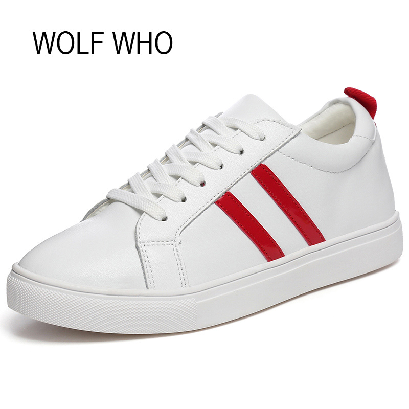 WOLF WHO Female White Fashion Sneakers Women Shoes Superstar Ladies Leather Flats Basket Femme Tenis Femininos Casual H-151