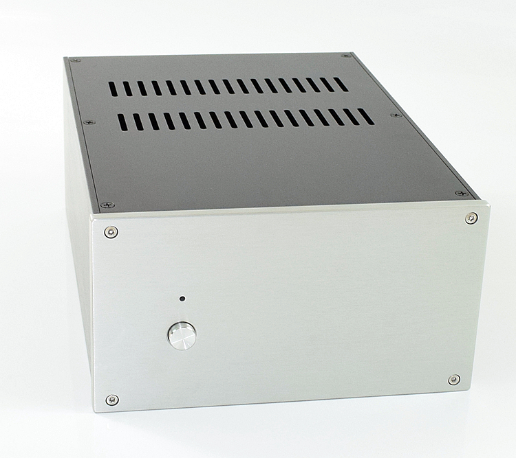 CJ-WA124 Full Aluminum Enclosure Audio Shell/ Amplifier Case/ Preamp Box/ PSU Chassis 220*121*308mm 3206 amplifier aluminum rounded chassis preamplifier dac amp case decoder tube amp enclosure box 320 76 250mm