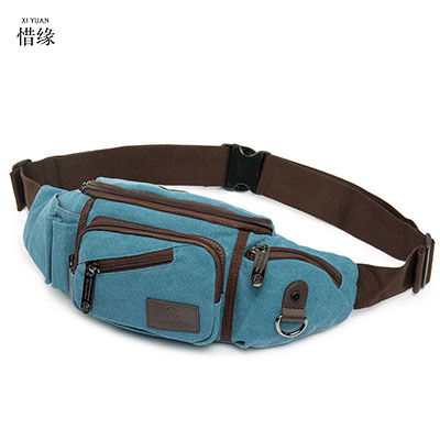 XI YUAN BRAND Men Vintage Canvas black Waist Pack Fashion Durable Money blue black Belt Bags Women Solid Leisure Leg Bag Pouch brand logo new multifunctional genuine leather waist pack for men women bags travel belt bag money pouch