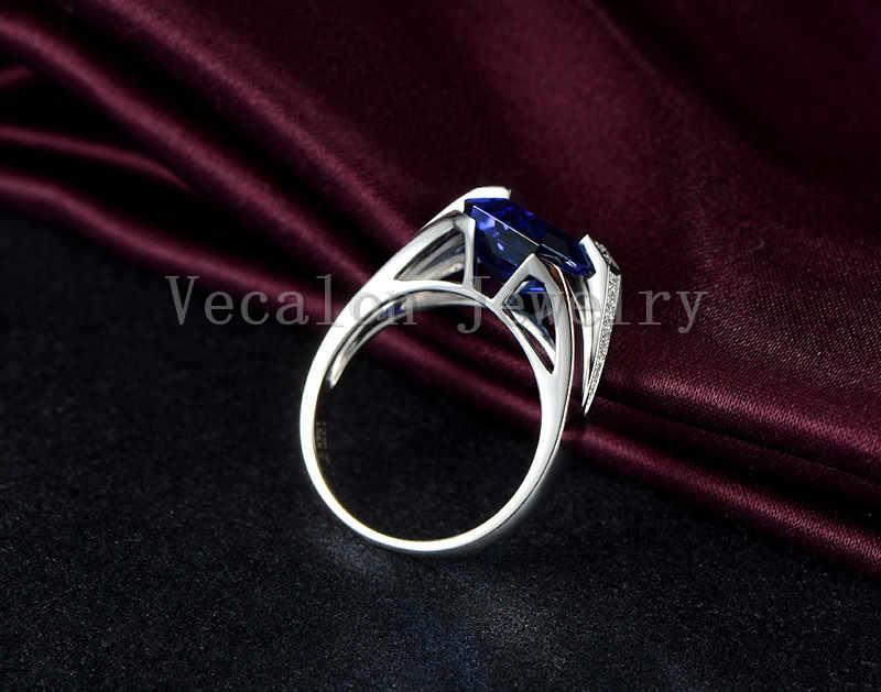 Vecalon Брендовые мужские модные ювелирные изделия обручальное кольцо 6ct камень 5A Циркон cz 925 пробы серебро мужской обручальное кольцо на палец